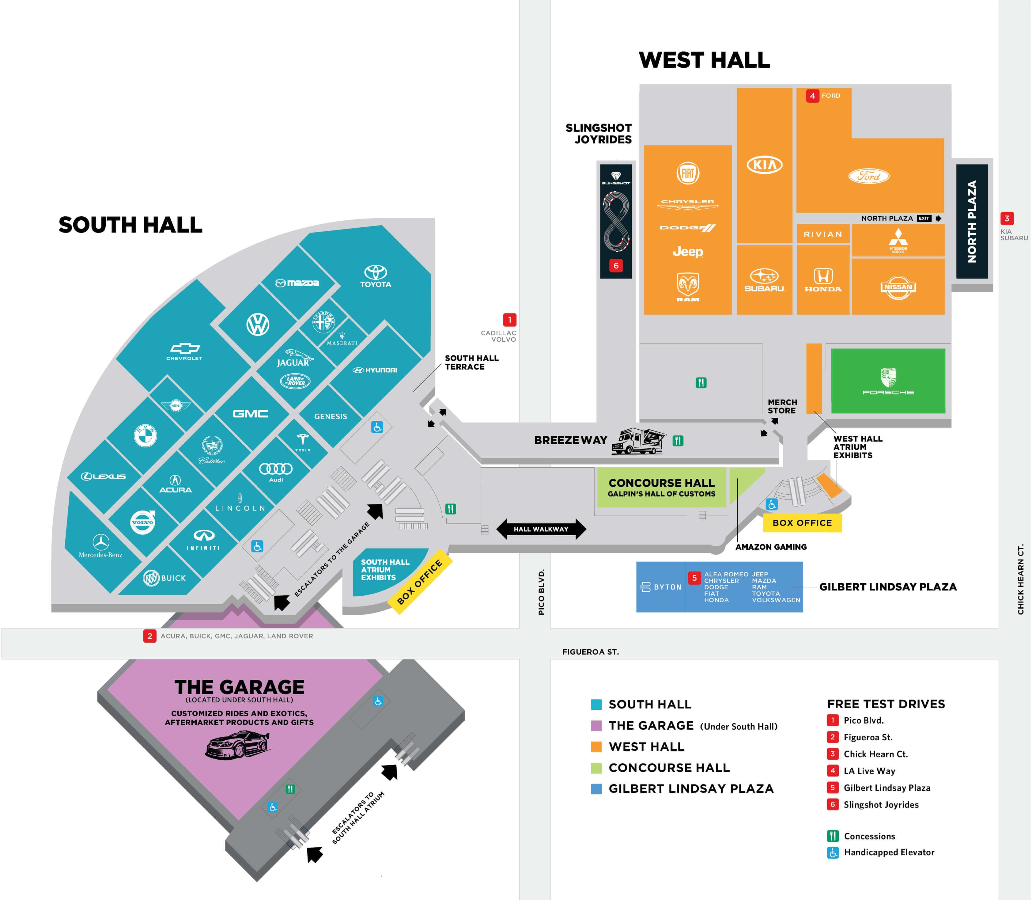 Floor Map Test LA Auto Show Nov 30 Dec 9 2018